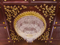 Beautiful crystal chandelier close up Stock Photography