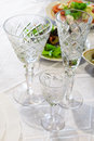 Beautiful crystal glasses Stock Photography