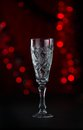 Beautiful crystal goblets for champaign Royalty Free Stock Photo