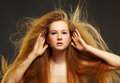 Beautiful curly red-haired woman Royalty Free Stock Photo