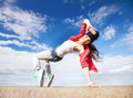 Beautiful dancing girl in movement sport and urban culture concept Royalty Free Stock Photography