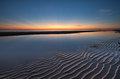 Beautiful dawn sky with ray and sand pattern as foreground borneo malaysia asia sunset Stock Photography