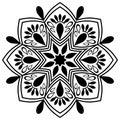 Beautiful Deco Mandala Vector. Frost, chic.