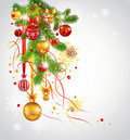 Beautiful decorated Christmas fir tree Stock Photography