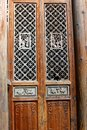 Beautiful decorated wooden doors in Hongcun, China Royalty Free Stock Photo