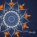 Beautiful decoration blue colorful background diwali diya celebration Stock Images