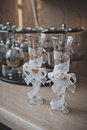 Beautiful decorative glasses for the newly-married couple