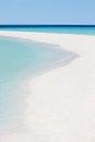 Beautiful deserted tropical beach sunny Royalty Free Stock Photos