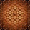 Beautiful design on a brown glass Royalty Free Stock Photography
