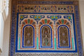 Beautiful detail of moulay ismail mausoleum at meknes in morocco Royalty Free Stock Image
