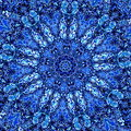 Beautiful Detailed Blue Mandala Fractal. Abstract Background Pattern. Decorative Modern Artwork. Creative Ornate Image. Element.