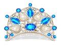 Beautiful diadem feminine with pearl