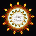 Beautiful diwali greeting card colorful rangoli design illustration Stock Photos
