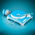 Beautiful DJ player Royalty Free Stock Photo