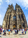 Beautiful dome in cologne germany may people enjoy the view to the on may germany it is germanys most visited landmark attracting Stock Photography