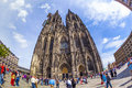 Beautiful dome in cologne germany may people enjoy the view to the on may germany it is germanys most visited landmark attracting Royalty Free Stock Images