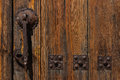 Beautiful door knocker in a house entrance in the village of moron de almazan province of soria spain Stock Photography