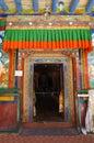 Beautiful door at Lamayuru monastery in  Ladakh, India. Royalty Free Stock Photo