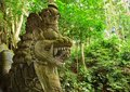 Beautiful dragon sculpture in the jungle ubud indonesia Stock Photo