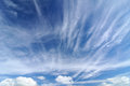 Beautiful dramatic sky blue with white cloud Royalty Free Stock Photo