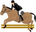 Beautiful drawing, racehorse Royalty Free Stock Photo