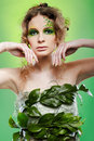 Beautiful dryad girl Royalty Free Stock Images