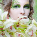 Beautiful dryad girl Stock Images