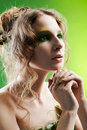 Beautiful dryad girl Stock Image