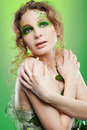 Beautiful dryad girl Stock Photography