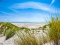Duna y largo playa en norte mar