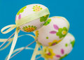 Beautiful easter eggs Royalty Free Stock Photos