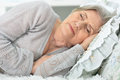 Beautiful elderly woman sleeping Royalty Free Stock Photo