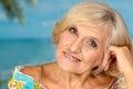 Beautiful elderly woman smiling Royalty Free Stock Photo
