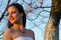 Beautiful elegant lady in the nature Royalty Free Stock Photo