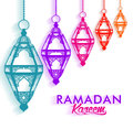 Beautiful Elegant Ramadan Mubarak Lanterns Royalty Free Stock Photo