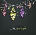 Beautiful Elegant Ramadan Mubarak Lanterns Royalty Free Stock Photo