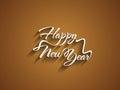 Beautiful elegant text design of happy new year vector illustration Stock Image