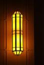 Beautiful elongated yellow lamp Royalty Free Stock Photography