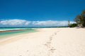 Beautiful empty beach on hawaii view of the Royalty Free Stock Image