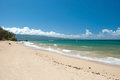 Beautiful empty beach on hawaii view of the Royalty Free Stock Photo
