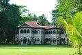 Beautiful european residence and green yard in phuket thailand Stock Photos