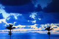 Beautiful evening in tropical zone Stock Images