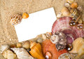 Beautiful exotic shell, stones, crystal Royalty Free Stock Photo