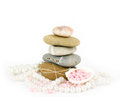 Beautiful exotic shell and stones, pearls Stock Photography