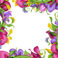 Beautiful exotic tropical fantasy flower background collection Stock Image