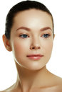 Beautiful face of a young caucasian woman. Woman beauty face Royalty Free Stock Photo