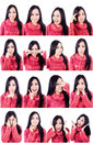 Beautiful facial expressions multiple shots Royalty Free Stock Photos