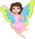 Beautiful fairy cartoon illustration of Royalty Free Stock Photography