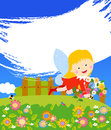 A beautiful fairy girl illustration of Royalty Free Stock Images