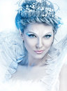 Beautiful fairy winter sexy glamorous girl with wings in an image of the of Stock Image